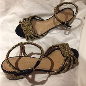 Charlotte Olympia Shoes - Charlotte Olympia gold black sandals 38.5 or 8