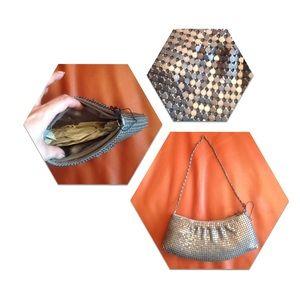 Handbags - Silver chain mesh small purse