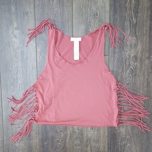 Fringe Pink Tank -NWOT
