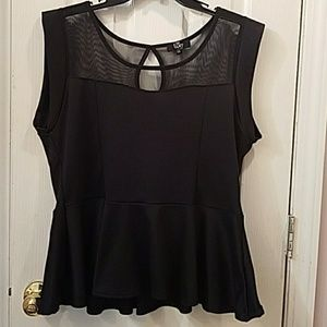 Tops - NWOT Black Peplum Shirt