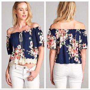 1 North 1 South Tops - COMING THIS WEEKEND Off The Shoulder Floral Top