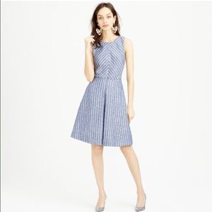 J. Crew Dresses & Skirts - J Crew chevron striped linen dress