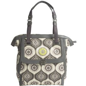 Petunia Pickle Bottom Handbags - Petunia Pickle Bottom Pewter Continental Carryall