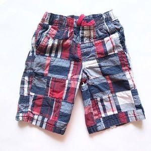 Gymboree Other - GYMBOREE [boys] Plaid red white blue Shorts