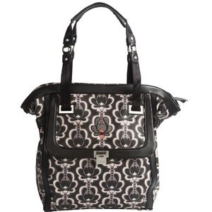 Petunia Pickle Bottom Handbags - Petunia Pickle Bottom Black Lotus Cont. Carryall
