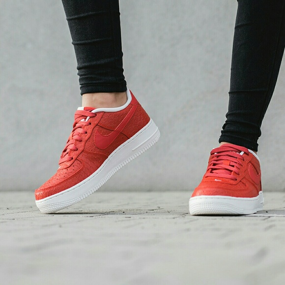 Nike Air Force 1 LV8 Red Womens   Youth 2544f6b18c