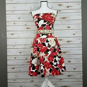 {WHBM} Floral Print Fit & Flare Dress, Pockets!-4