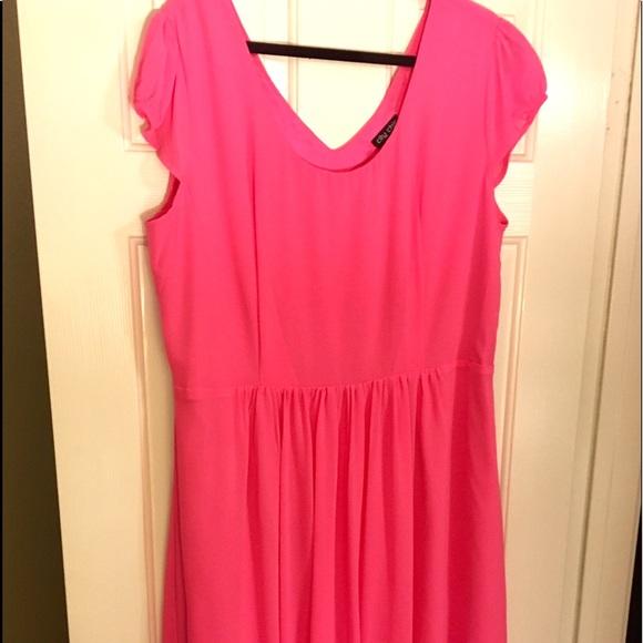 dbae84cd11849 PLUS SIZE Neon Pick City Chic Dress. Size M( 16)