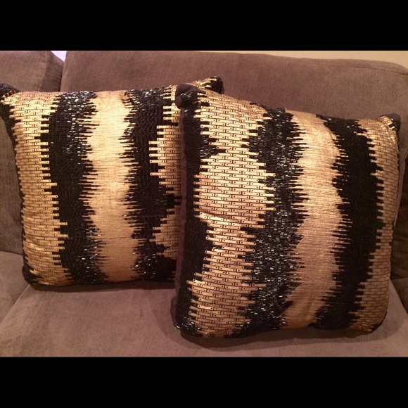 29% off Other - Black and gold beaded throw pillows from Tina s closet on Poshmark