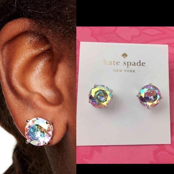 dc36b9a0d4ab1 Kate Spade ♠️ GUMDROP EARRINGS Studs Iridescent NWT
