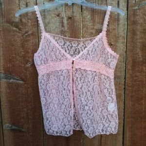 Tops - Lace Tank Overlay
