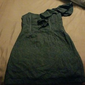 Isabel Lu Dresses & Skirts - One shoulder ruffle zip up dress. Offers accepted