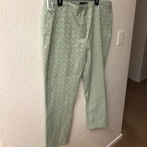 Primark Pants - Blue and Taupe Jacquard Pants