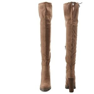 Charlotte Russe Shoes - Chunky Heel Over the Knee Boots