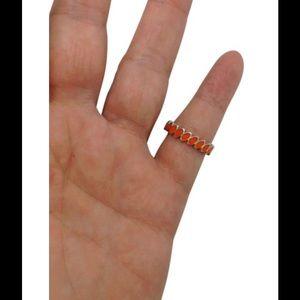 Pandora Jewelry - Pandora orange enamel stacking fashion ring