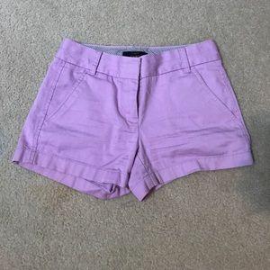 "J. Crew Chino Shorts 3"" Light Purple #20"