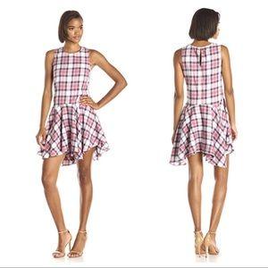 BCBG Drop Waist Plaid Dress