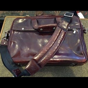Bosca Other - Bosca Double Compartment Leather Briefcase