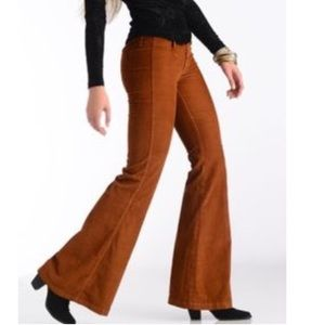 Black Orchid Denim - Light Brown Corduroy Wide Leg Jeans