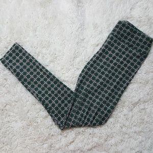 LuLaRoe Pants - Lularoe Green Geometric Floral Leggings OS