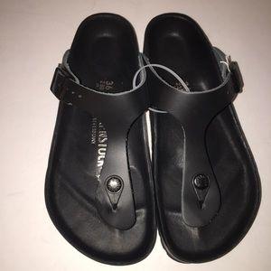 Birkenstock Shoes - Birkenstock Black EXQUISITE Gizeh Sandal 5/36