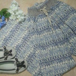 Rewash Pants - Smocked elastic linen flare pants