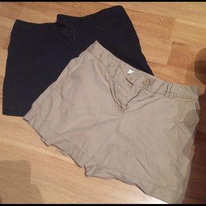 LOFT Pants - 2 pairs of Ann Taylor LOFT Khaki Style Work Shorts
