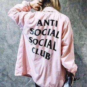 Anti Social Social Club Jackets & Blazers - Anti Social Social Club Pink Coach Jacket