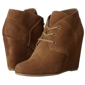 Dolce Vita Shoes - dolce vita // tan suede wedge booties