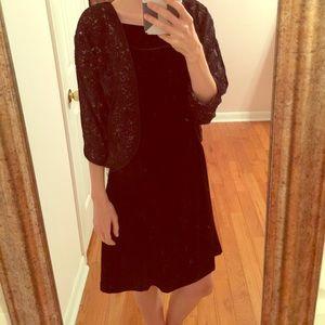 No. 6 Dresses & Skirts - No. 6 Velvet Floral Batwing Dress