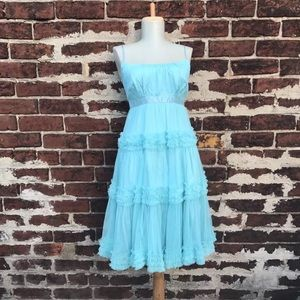 Plenty by Tracy Reese Dresses & Skirts - Plenty Tracy Reese 0 Frock Teal Tulle Ruffle Dress