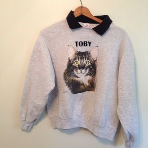 Reclaimed Vintage Sweaters - Vintage cat pull over