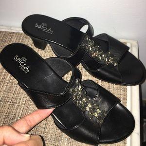 Sbicca Shoes - SBICCA 8 1/2  Wide Black Embellished Sandal