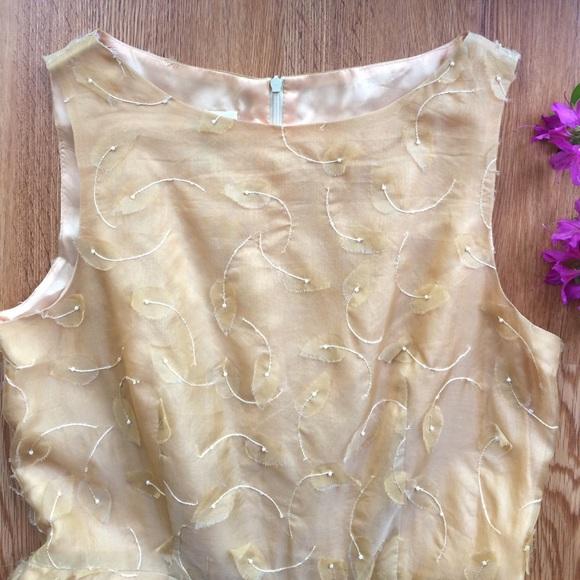 Talbots SALETalbot Dress Silk Chiffon Pearl Eyelash 10
