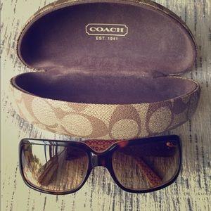 Coach Accessories - Coach Tortoise Delphine Sunglasses w/ Case EUC
