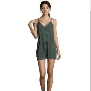 French Connection Other - French Connection Everglade Green Woven Romper