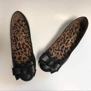 Jessica Simpson Shoes - Jessica Simpson Black Bow Flats Mugara