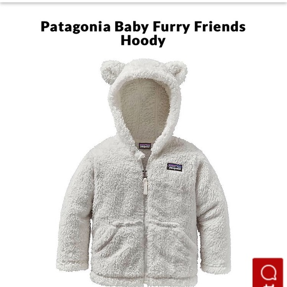 ba638ddae NWT Patagonia Baby Furry Friends Hoody: 6-12mo