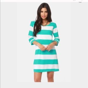Lulus striped shift dress SM