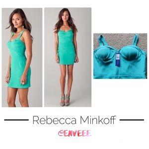 Rebecca Minkoff teal bodycon dress