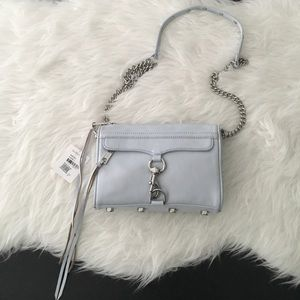 Rebecca Minkoff Mac Crossbody Bag Bleached Blue
