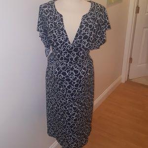 Liz Lange Black/White Maternity Dress