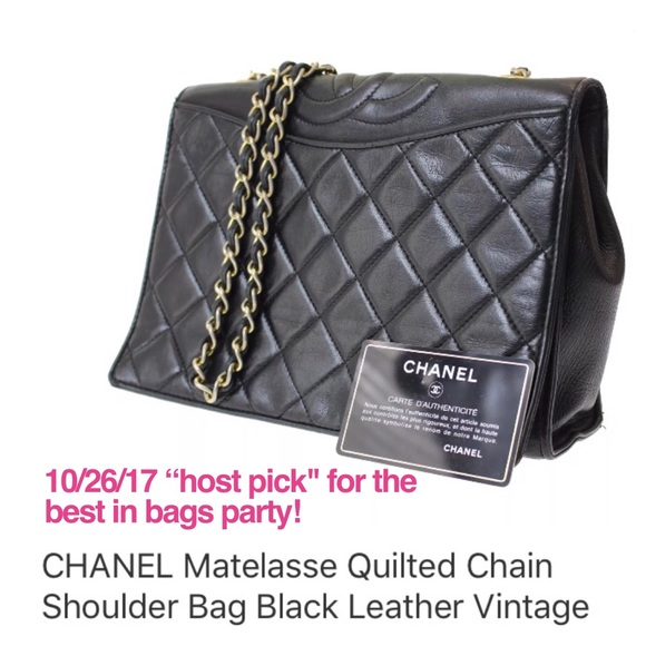 CHANEL Handbags -  CHANEL Vintage Lamb Matelasse Gold Chain Bag 51061da7cd8e1