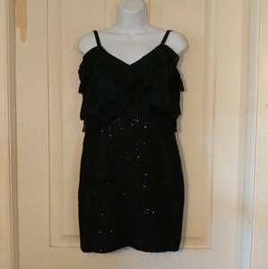 Ann Taylor LOFT black cocktail dress