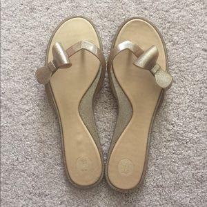Melissa Shoes - Melissa Gold Rubber Flip Flops