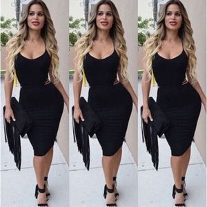 """Dresses & Skirts - ❣Just In!! """"Lena"""" Black Lace-Up Bodycon Dress❣"""