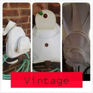 Vintage Italian leather backpack