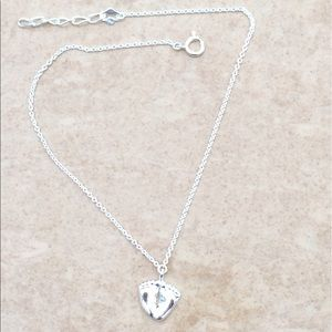 Jewelry - Sterling Silver 925 Feet Heart Charm Anklet Ankle
