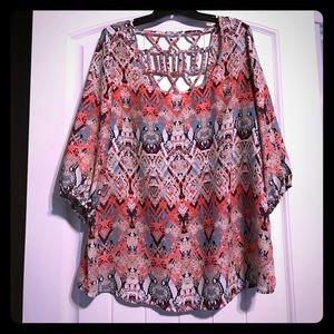 Soulmates Tops - 3/4 elastic sleeve blouse