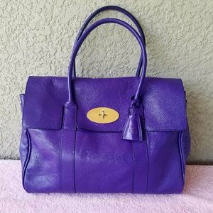 Mulberry Handbags - Mulberry Bayswater Grape Purple Leather Tote Satch
